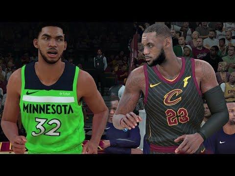 "NBA 2K18 Gameplay Cleveland Cavaliers vs Minnesota Timberwolves  (New Alternate ""Statement"" Unis)"