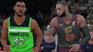 "NBA 2K18 Gameplay Cleveland Cavaliers vs Minnesota Timberwolves  (New Alternate ""Statement"" Unis)"