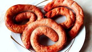 Домашняя колбаса из курицы и свинины  в духовке рецепт