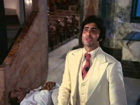 Hindi Film - Amar Akbar Anthony - Drama Scene - Amitabh Bachchan - Anthony Pleads Before Lord Jesus