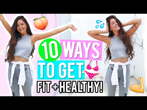 10 Ways to Get Healthy & Fit 2017! Healthy Lifestyle & Fitness DIYs, Life Hacks + Recipes!