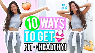 10 Ways to Get Healthy & Fit 2017! Healthy Lifestyle & Fitness DIYs, Life Hacks + Recipes! thumbnail