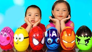 Color Song Nursery Rhymes - Learn Colors Coco Pretend play Surprise Eggs Indoor Playground