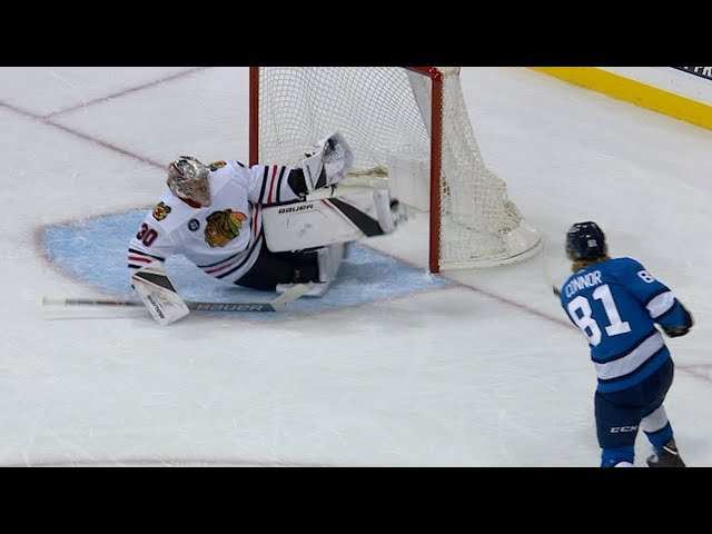 Cam Ward makes unreal windmill glove save on Connor