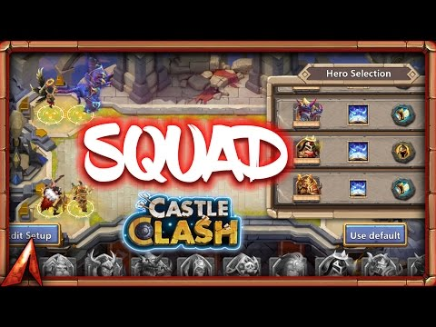 First Time Trying Squad Showdown! Castle Clash