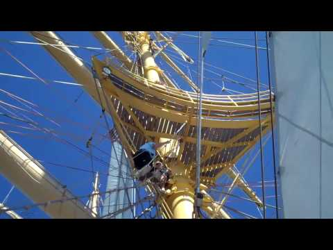 The Royal Clipper Climbing to the Crows Nest
