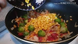 Очень вкусный гарнир с рисом и овощами!!!