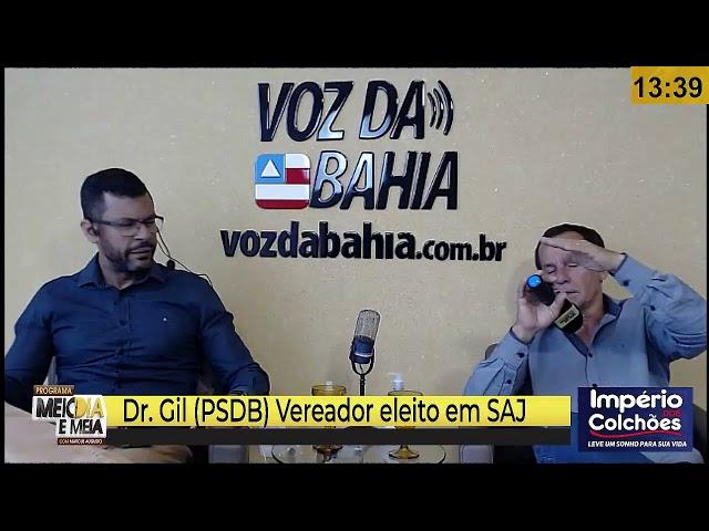Meio-dia e meia live Dr. Gil (PSDB) Vereador eleito em SAJ