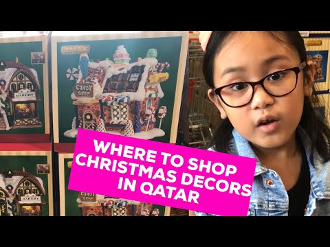 Where to buy Christmas decorations in Qatar I Ace Hardware Qatar trip I Christmas villages for sale