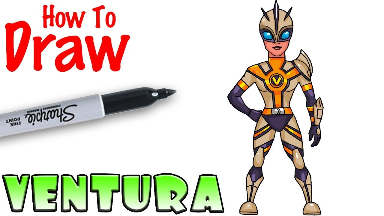How To Draw Ventura Fortnite Youtube