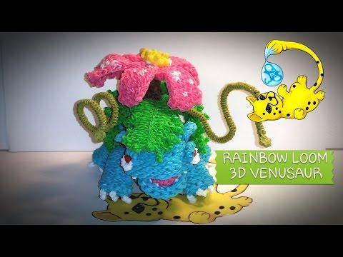 Rainbow Loom 3D Venusaur Pokémon (Part 1/12)