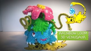 Rainbow Loom 3D Venusaur Pokémon (Part 1/12)
