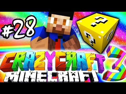 Minecraft Mods: CRAZY CRAFT #28 'BREAKING 100 LUCKY BLOCKS!'