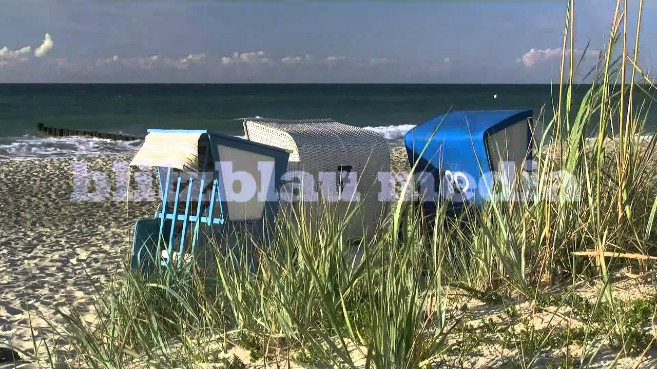 Strandkorb am meer wallpaper  Stock Footage Europe Germany Baltic Sea Beach Ostsee Strand ...