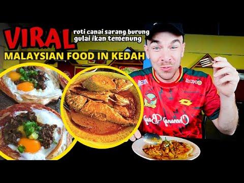 First time trying ROTI CANAI SARANG BURUNG & GULAI IKAN TEMENUNG - Kedah, MALAYSIA FOOD TOUR VLOG