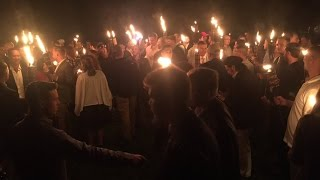 Viral Video | Torch-Wielding White Supremacists Gather in Charlottesville, Virginia