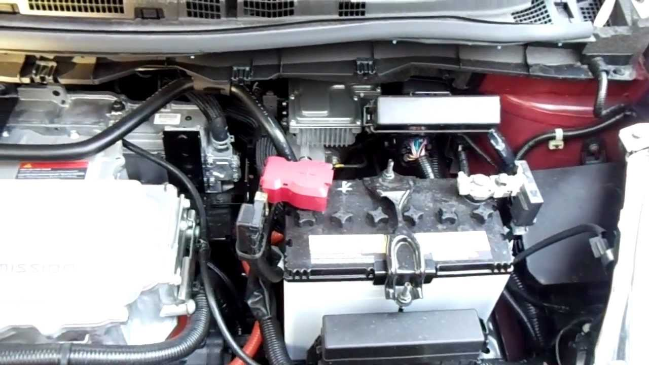small resolution of nissan leaf engine bay electric motor youtube subaru baja engine diagram nissan leaf engine bay electric