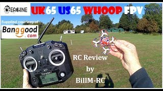 Eachine UK65 US65 Whoop FPV Racing Drone review -  Unboxing, Inspection, Setup & Flight tests