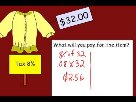 Calculating Sales Tax Youtube