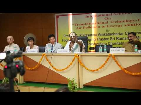 Air pollution to Energy Solution_Speech by Sri S.A.R. Prasan