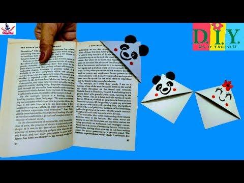 How to Make Corner Bookmarks | DIY BOOKMARKS | Easy Origami Bookmark | Paper Crafts