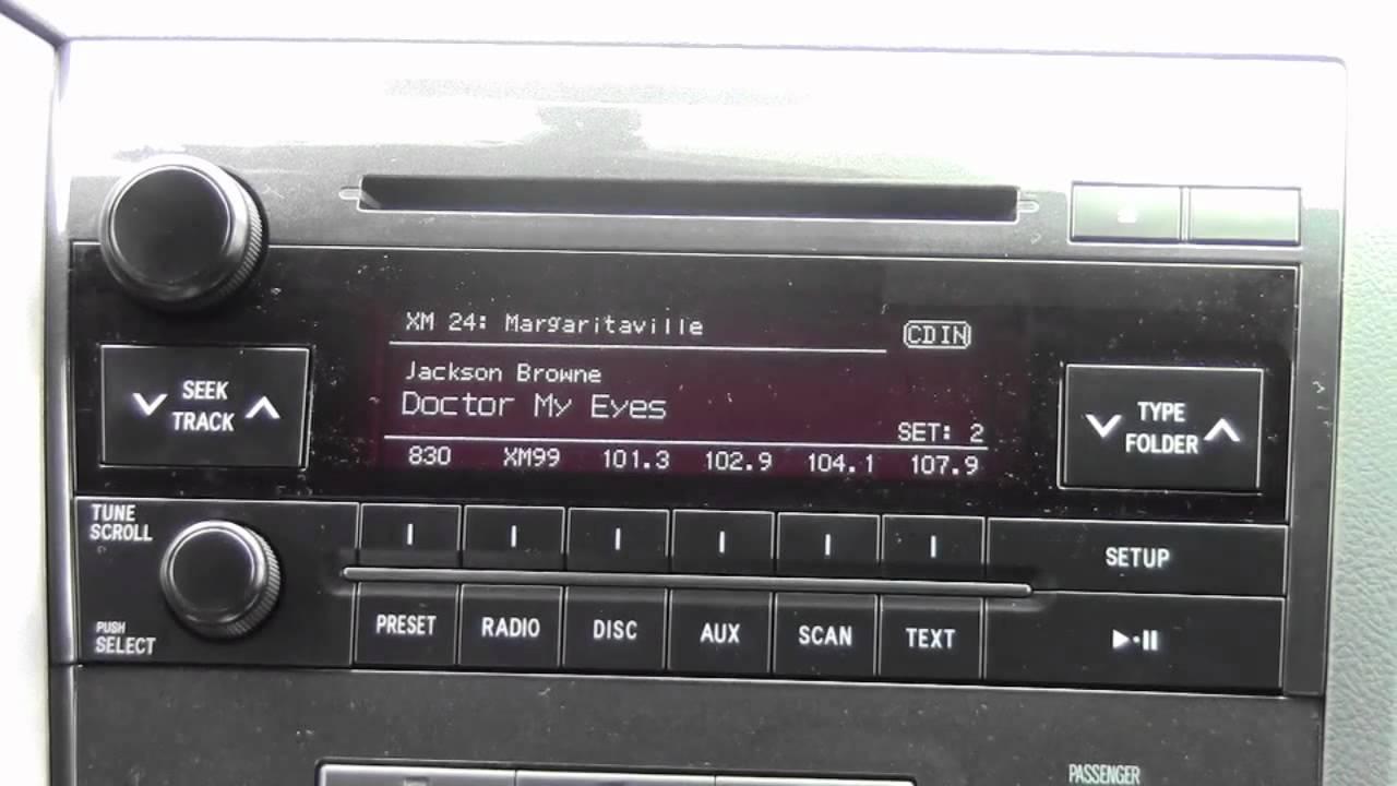 radio for 2010 toyotum tundra [ 1280 x 720 Pixel ]