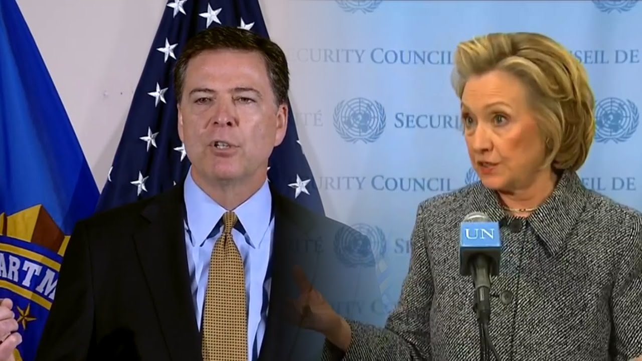 Image result for james comey and hillary clinton