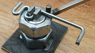 DIY Bender of Steel Nut and Bolt