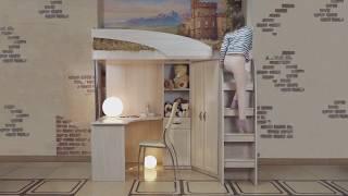 ВидеоОбзор EuroMebel: Двухъярусная кровать коллекции Вега (Россия)