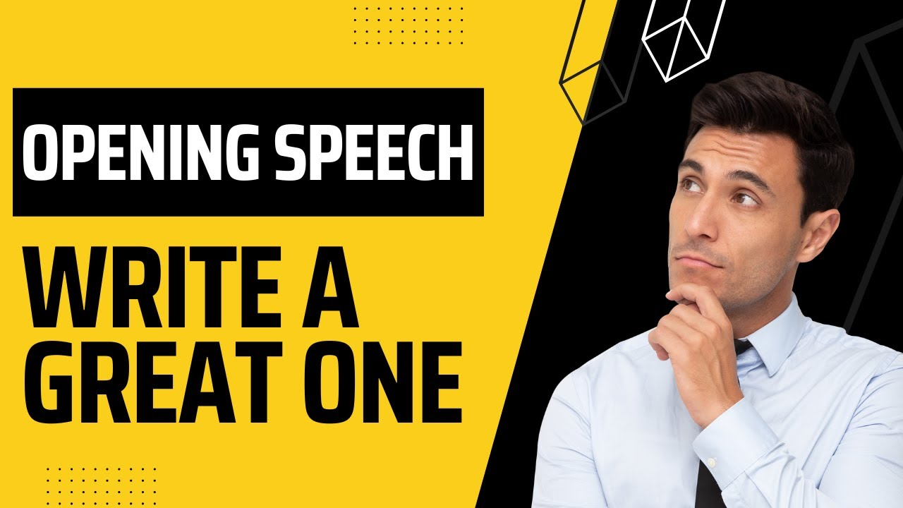Opening Speech - An Emcee Guide to writing a great opening