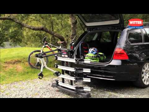 Zx404 Four Bike Cycle Carrier From Witter Towbars Youtube