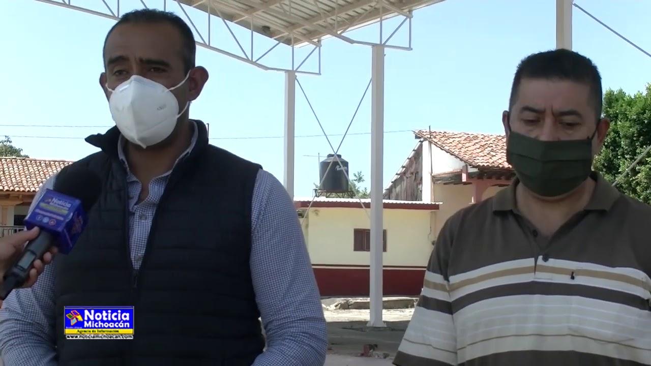 Construyen área de usos múltiples en la comunidad de Villa Mendoza, Purépero