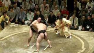 20120520 大相撲5月場所旭天鵬vs豪栄道 まさかこの一番で優勝までい...