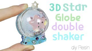 Watch me Resin: How to DIY 3D Star Globe Double Shaker Charm Tutorial