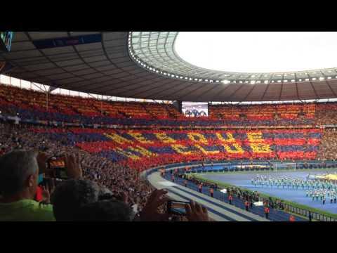 FC Barcelona, More than a club - Human Mosaic in Champions League 2015