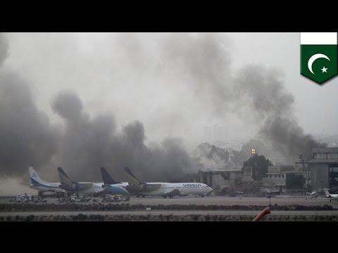 Jinnah International Airport attack: suicide bombers target Pakistan's major airport in Karachi