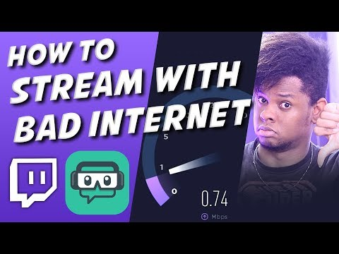 How To Live Stream With Bad Internet - Best Settings For Streamlabs Obs / Obs Studio