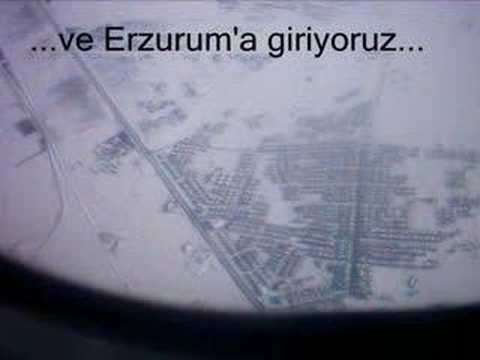 Uçaktan Erzurum'a bakış...