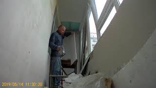 Ремонт балкона. Потолок из пластиковых панелей. ч2
