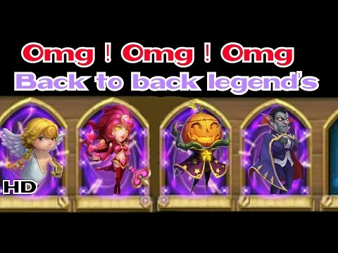 Castle Clash : Amazing Rolls ! Back To Back Legends Valentine , Cupid , Pd , Vlad