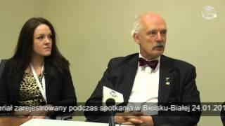 Janusz Korwin-Mikke -  Materiał ze spotkania  w Bielsku-Białej cz.3  konferencja prasowa