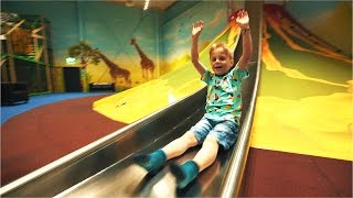 JUST SLIDE MORE: Thrilling Volcano Slide at Leo's Lekland (family fun for kids)