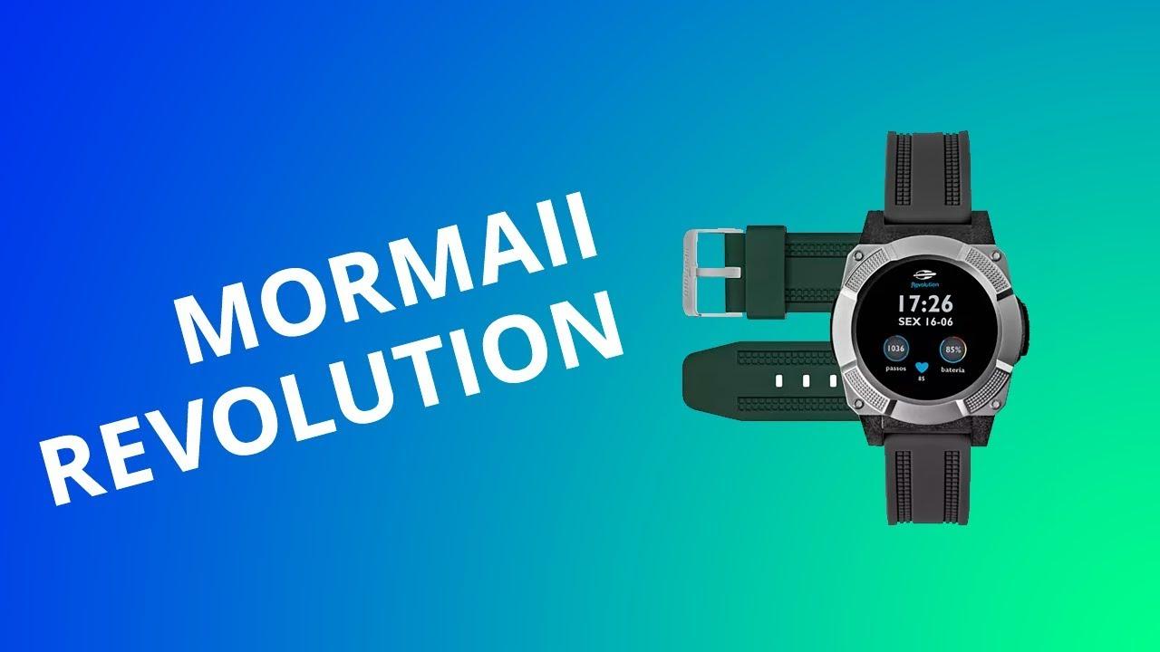 67c6cc3d708 Mormaii Revolution  smartwatch nacional e ultraleve - YouTube