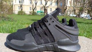 Весенние мужские кроссовки EQT черные купить в Украине. Видео обзор