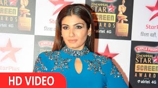 Raveena Tandon On Red Carpet Star Studded 22nd Annual Star Screen Awards 2016