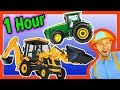 Colors Song  Nursery Rhymes  Learn to Count for Toddlers  Tractor Backhoe Collection for kids 1 Hour
