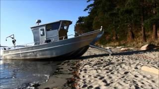 Amazing boat walks on land