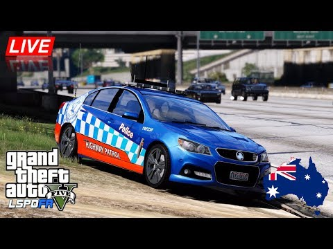 GTA 5 - LSPDFR Australia - NSW Highway Patrol VF Commodore (Play GTA as a cop mod for PC) #OZGTA