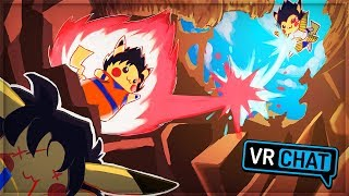 DBZ POKEMON - Goku Pikachu vs Vegeta Pikachu! (VRChat Funny Moments)