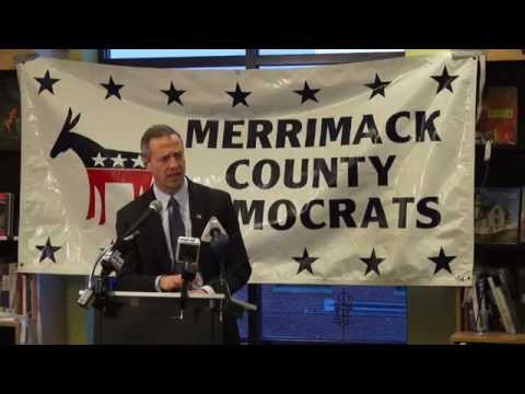 Martin O'Malley Speaks at Concord, New Hampshire Bookstore